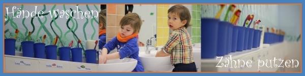 Organisation Haende waschen Zaehne putzen